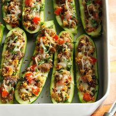 Italian Sausage-Stuffed Zucchini