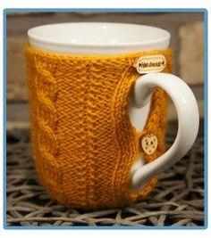handmade kubek w sweterku ręcznie robiony konrad