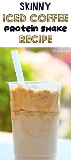 Iced Coffee Protein Shake Recipe: A low calorie, low carb, high protein, and filling breakfast or lunch smoothie. This recipe is gluten-free, Vegan and keto-friendly.