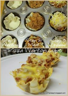 Party Food .... Pizza Wonton Cups. Could also do Taco salad cups! :) The variety of party dishes is astonishing Want to lose weight and more Check out this here http://belfit.com