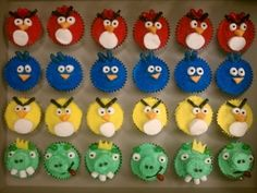 Angry Bird Cupcakes By ReddyRed on CakeCentral.com