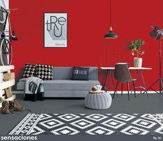 Combina un color vibrante con tonos neutros y consigue un espacio intelectual. ¡Encuentra más consejos de decoración en nuestra revista Sensaciones! http://www.comex.com.mx/sensaciones
