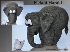Häkelanleitung für Elefant Harald - 19 cm hoch