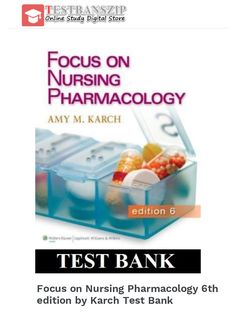 Managerial decision modeling with spreadsheets 3rd edition focus on nursing pharmacology 6th edition by karch test bank fandeluxe Images