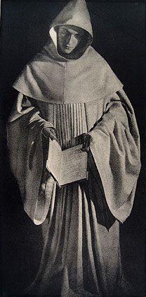 Jose Ortiz Echague - El Monje Blanco, 1945 carbon print 18.25 x 9.25 inches