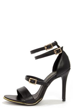 Shoe+Republic+LA+Gemini+Black+Ankle+Strap+Heels+at+LuLus.com!
