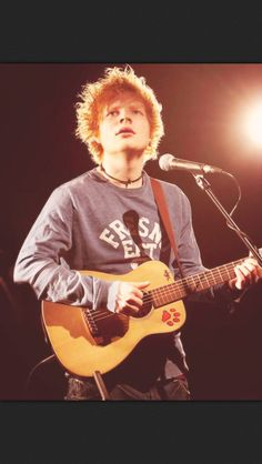 Ed Sheeran, his guitar skills are mad just so awesome. And his voice- so awesome