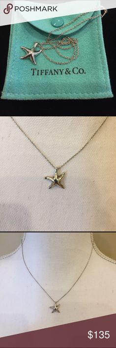 Tiffany & Co. starfish necklace ⭐️ Authentic Tiffany & Co. sterling silver starfish necklace.  Worn only a few times, so in excellent condition....no scratches or visible signs of wear.  You NEED this....you're a star! ❤⭐️ Tiffany & Co. Jewelry Necklaces