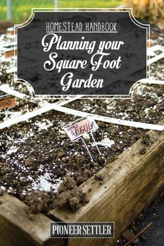 Planning Your Square Foot Garden [Chapter 2] Homestead Handbook | How To Grow Plants In Small Spaces by Pioneer Settler at  http://pioneersettler.com/homestead-handbook-planning-for-square-foot-gardening/
