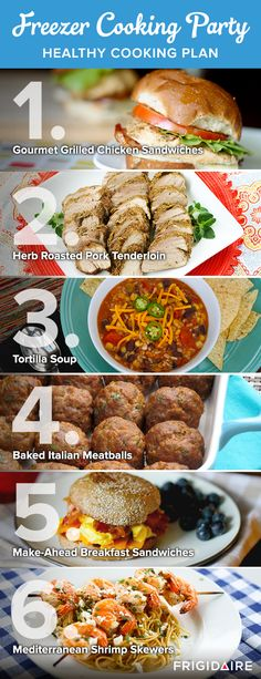 Cook with friends AND save time and money by hosting a Freezer Cooking Party! Thriving Home's easy plan has 6 delicious recipes, a shopping list, planning tips and more. The result? Healthy dishes that you can store in your Frigidaire freezer for easy weeknight cooking in no time!