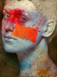 Belgium based figurative painter Michal Lukasiewicz portrays his subjects with the tenderness and warm sensuality of the High Renaissance, combined with the vibrancy of Pop art in his use of bright… Digital Portrait, Portrait Art, Portrait Paintings, Art Paintings, Figure Painting, Painting & Drawing, Painting Abstract, Acrylic Paintings, Abstract Landscape