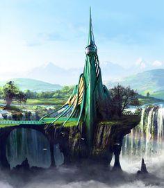 Emerald Tower by Edli.deviantart.com on @deviantART