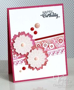 Card by Chaitali Narla using Button Best from Verve.  #vervestamps