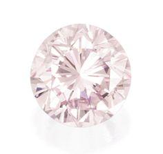 Fancy Light Pink Diamond Estimate: - USD The round brilliant-cut Fancy Light Pink Diamond weighing carats. Gem Diamonds, Colored Diamonds, Diamond Shop, Diamond Cuts, Diamond Dreams, Color Ring, Gems And Minerals, Conflict Free Diamonds, Rose
