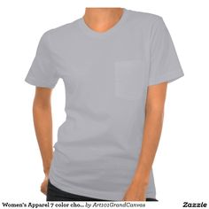 Women's Apparel 7 color choices Pocket T-Shirt
