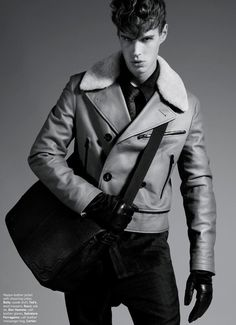 f91168a9 Marko Martinovic shot by Justin Jonah Ng and styled by Ben Chin with  standout pieces in all kinds of leather from collections, for the October  issue of ...