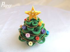 Christmas tree ornament christmas decor christmas gift by PaperPieceArt - 44.99$