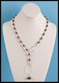 Olive Colored Freshwater Pearl Station Lariat by floweravenue, $56.00 Beaded Necklace, Necklaces, Dramatic Look, Fresh Water, Sterling Silver Rings, Pearls, Chain, Jewelry, Beaded Collar