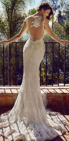 Drop dead gorgeous wedding gown from @BHLDN #wedding