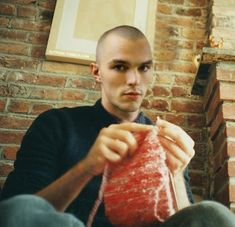 Nicholas Hoult He once knitted for ten hours straight, apparently.