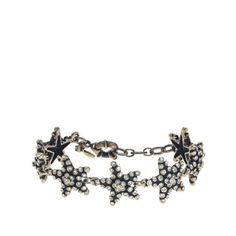 "J. Crew Star Bracelet Piled-up crystals give these stars a 3-D effect. Length: 6 1/4"" with a 1"" extender chain for adjustable length. J. Crew Jewelry Bracelets"