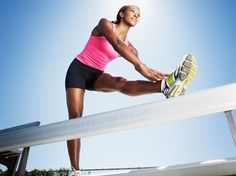 4 Non-Running Race Training Tips - [Image]Ask the Celebrity Trainer: The Best Race Training Tips - Triathlon Training Plan, Race Training, Marathon Training, Training Tips, Training Equipment, Stretches For Knees, Stretches For Runners, Stretching Exercises, After Running
