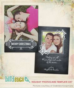 INSTANT DOWNLOAD  Psd Christmas Card Photoshop by birdesign, $8.00