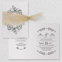 Galleria - Invitation - White Shimmer - Option 2 - Wedding Invitations - Wedding Invites - Wedding Invitation Ideas - View a Proof Online - #weddings #wedding #invitations