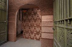 Giles Miller Studio 7 Angled Walnut Veneered Pixels Shaping A Light Defined Installation