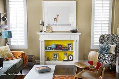 I love the idea of turning the fireplace into a bookshelf.