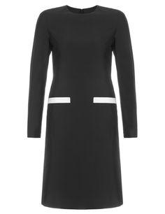 Black Wool Mini Dress | Huishan Zhang | Avenue32