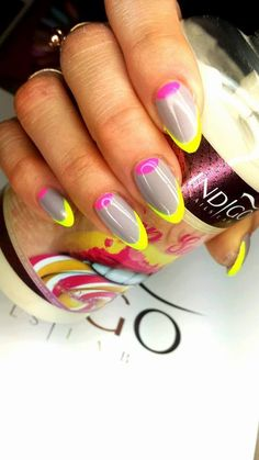 by Karolina Pawłowska, Find more Inspiration at www.indigo-nails.com #Nails #Polish #summer #neon