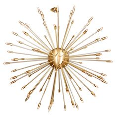 1stdibs - A 72 Lights Brass Sputnik Light Fixture explore items from 1,700  global dealers at 1stdibs.com