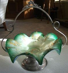 Brides Basket Silver Plate Base Lovely Bowl | eBay