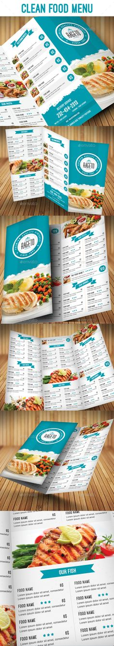 Clean Food Menu Template #design Download: http://graphicriver.net/item/clean-food-menu/9477199?ref=ksioks