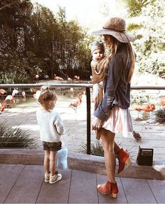 flamingos and yes that outfit with kids to the zoo... only you