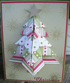 Stampin Up Christmas Card Samples | last christmas was all about the origami christmas tree