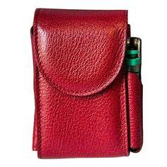 Porta-sigarette con porta accendino (rosso intenso)