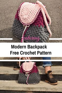 Modern Backpack Free Crochet Pattern For All Seasons - Knit And Crochet Daily