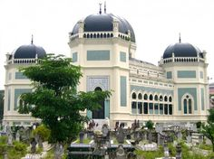 Great Mosque in Medan, Indonesia
