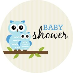 Baby Shower Decorations for Boys | 25 x 5 25 circle card