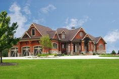 A new version of our ever-popular 15626GE, this Mountain house plan gives you four bedrooms in a one floor layout with room for expansion.Elegant ceiling treatments and interior columns combine to give you a top drawer home that impresses at every turn.The barrel vaulted ceiling in the master bathroom sets it apart and the huge walk-in shower has two entries.Homeowners get a double tray ceiling in the bedroom and a wall of windows that overlooks a big porch, one of several outdoor…