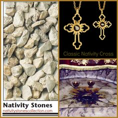 More than a piece of jewelry: a sacred piece of history!  The CLASSIC NATIVITY STONES CROSS. Get 15% OFF! Enter discount code upon checkout: NATIVITY2014  https://nativitystonescollection.com/classic-nativity-cross-large.html