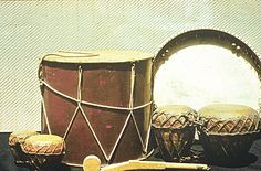 MUSIC & THE ART OF THE BOOK - Percussion Instruments. Photo: Gulbenkian Foundation Archive