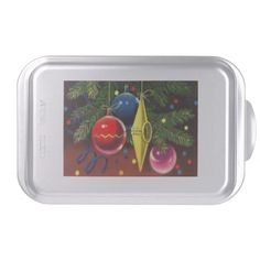 Yellow, Blue, And Red Ornaments Cake Pan http://www.zazzle.com/yellow_blue_and_red_ornaments_cake_pan-256828419191497882?rf=238271513374472230  #christmas  #christmasdécor