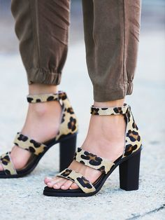 Free People Leopard Loca Heel, $158.00