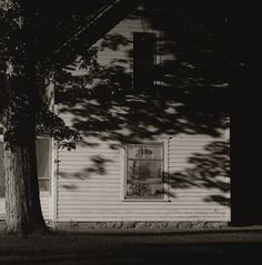 Summer Nights No. 18 by Robert Adams. I have experienced one of these summer nights. As a child they scared me because i believed there were wolves outside in the darkness. As an adult, i listen to the tree frogs and other night sounds and am lulled to sleep. very peaceful.