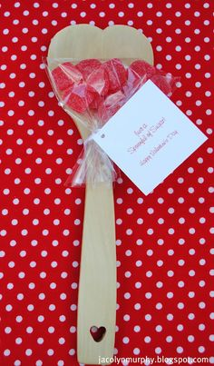 spoonful of sugar valentine. would be sweet for neighbors or teachers.