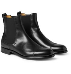 Lanvin  Leather Chelsea Boots  £620        Editors' Notes          Lanvin gives the classic Chelsea boots a dose of slick Parisian style with this polished black version. Featuring a full leather construction and elasticated sides, this pair will be a luxu