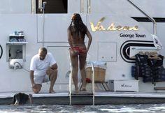 Beyoncé in bikini in Kroatië.